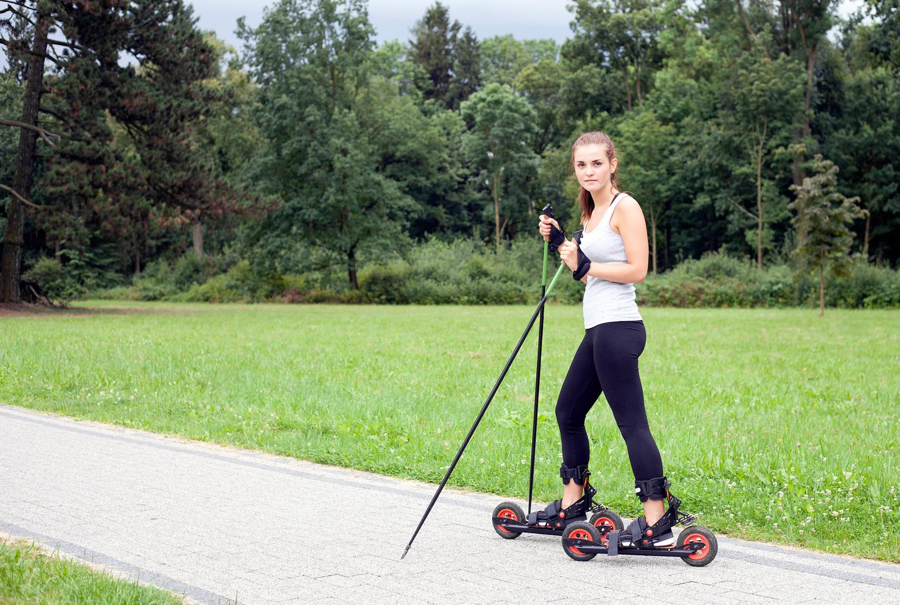 femme en skike