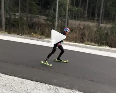 1 temps ski-roue