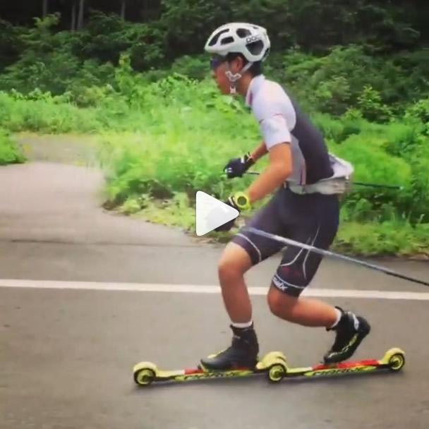 Du télémark en ski-roue !