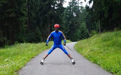 Comment freiner en ski-roue
