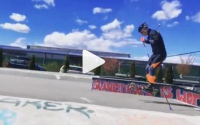 Le ski-roue entre au skatepark