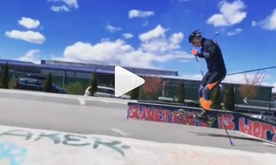 Ski-roue au Skatepark