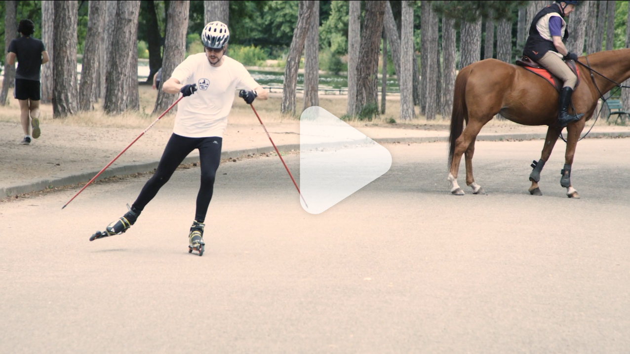 Test ski-roue Decathlon