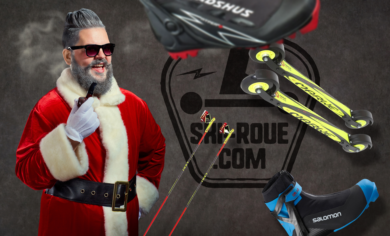 Père Noël Ski-roue